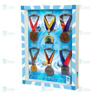 6 World Marathon Majors - 6 Medals - style: geometric
